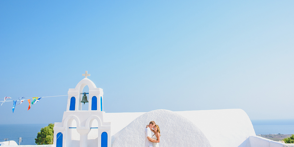 Melissa & Jason, Elopement in Santorini